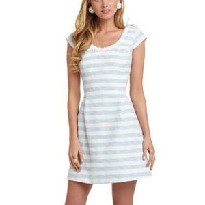Lilly Pulitzer Rylan Blue Striped A Line Dress